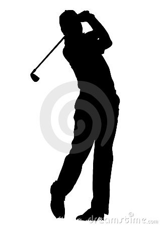 Golfer - isolated man