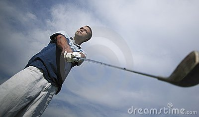 Golfer Judging The Shot