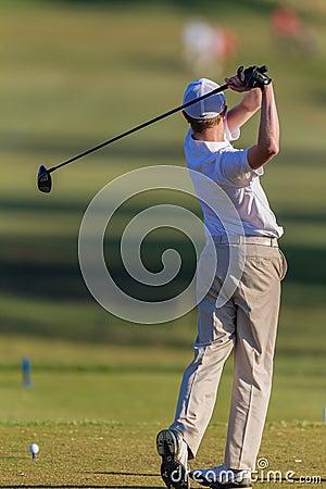 Golf Junior Tee-Box Swing Ball Editorial Stock Image