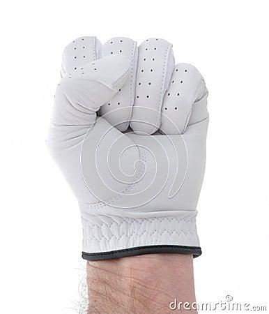 Golfer Making a Fist