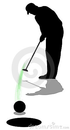 Golfer Man Putting