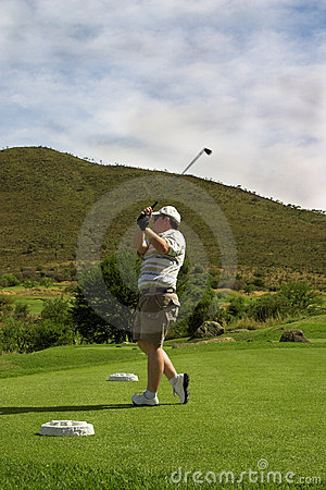 Free Golfer On The Tee Box Royalty Free Stock Photography - 1616497