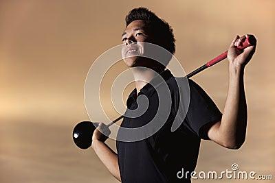 Golfer portrait