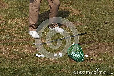 Golfer At The Range