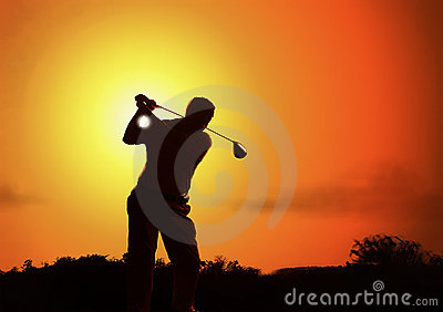 Golfer s silhouette