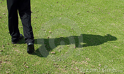 Golfer shadow