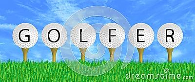 Golfer Sign