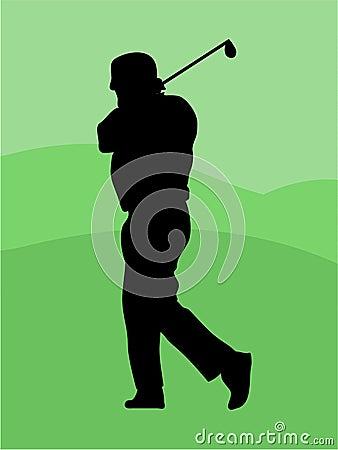 Golfer Sillouette