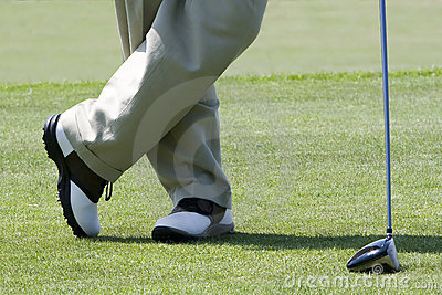 Golfer waiting