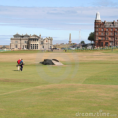 Golfers walking St Andrews