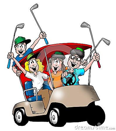 Free Golfing Family Royalty Free Stock Photo - 17140635