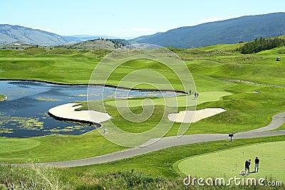 Golfing Golf Course Canada BC