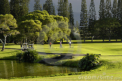 Golfing at Princeville Resort