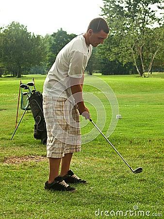 Golfing in a sun-shower