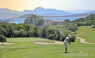 Golfista en Cerdeña
