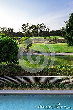 Golfplatzansicht vom Balkon