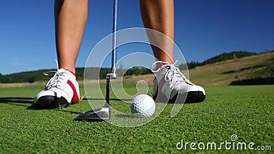 Golfspieler stock footage