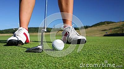 Golfspieler stock video footage
