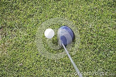 Golfutslagsplats för 01 boll upp