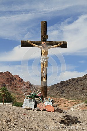 USA, Nevada/Boulder City: Golgatha Hilltop Editorial Image