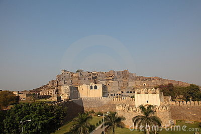 Golkonda Fort, Hyderabad Editorial Stock Photo