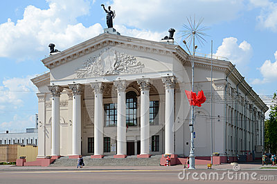 Gomel oblast drama theater Editorial Stock Photo