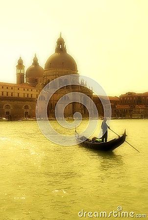 Free Gondola And Santa Maria Della Salute Basilica. Stock Photography - 2383532