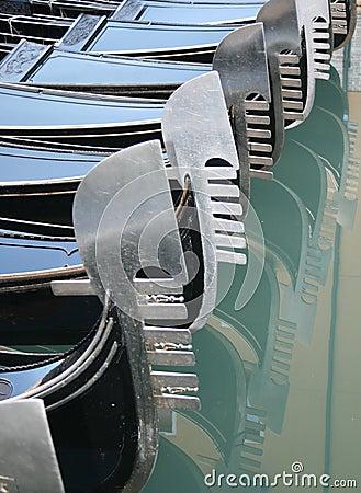 Gondola boat in venice italy