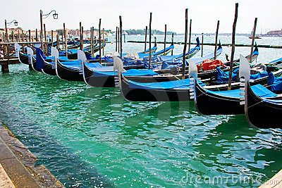 Gondola boats in Venice