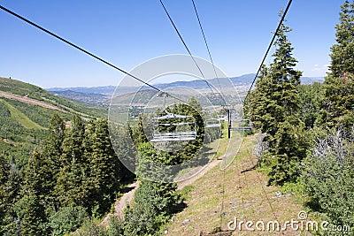 Gondola Chairlift at a mountain ski resort