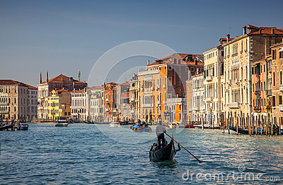 Gondola Cruise on the Grand Canal in Venice Editorial Image