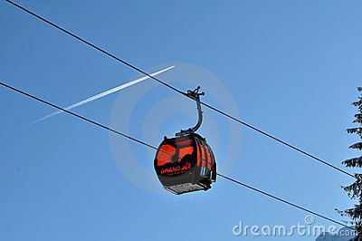 Gondola - GRAND JET - Slovakia Editorial Stock Image