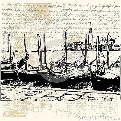 Gondola Grunge Letter