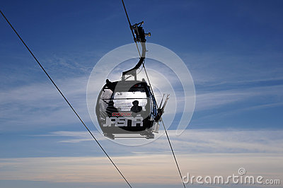 Gondola in Jasná - Slovakia Editorial Photography