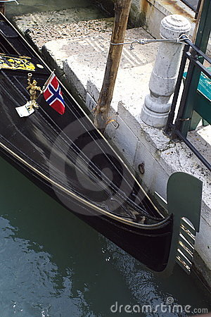 Gondola with Norwegian Flag