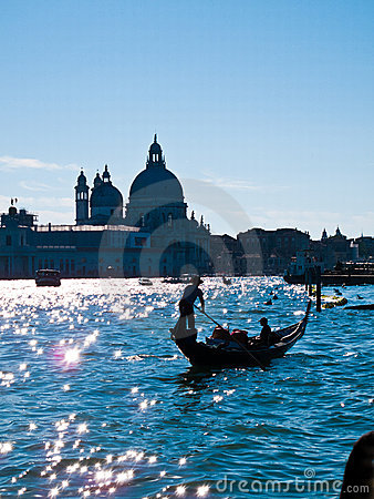 Free Gondola On Canale Grande Stock Photos - 18483303