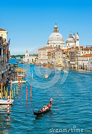 Free Gondola On The Grand Canal In Venice, Italy Stock Photos - 105664513