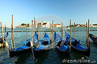 Gondola parking , Venice
