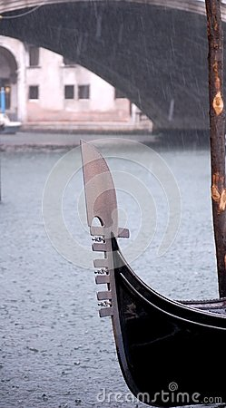 Gondola in the Rain