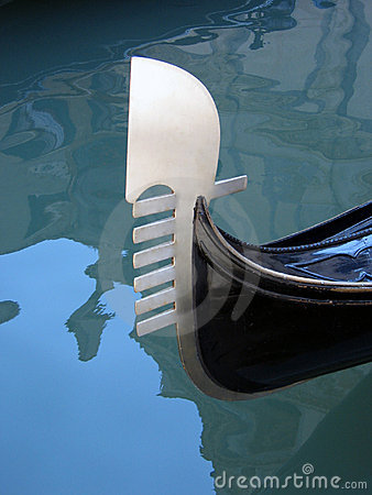 Gondola Tail, Venice 03, Italy Royalty Free Stock Photos - Image: 310408