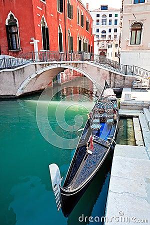 Gondola on Venice canal