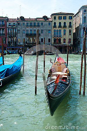Gondola on water Editorial Stock Image