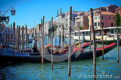 Gondolas venezia Editorial Image