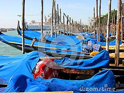Gondolas at Venice Italy