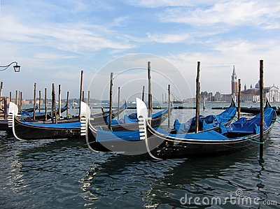 Gondolas Waiting For Hire