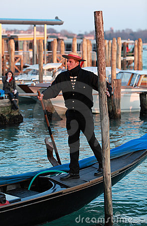 The Gondolier Editorial Stock Image