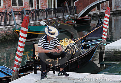 Gondolier Editorial Photo