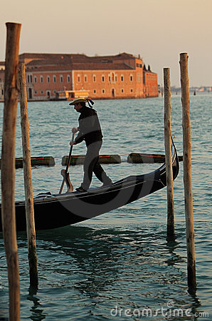 Gondolier Editorial Stock Image
