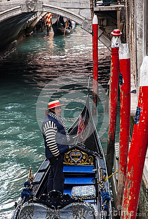 Gondolier Photo stock éditorial