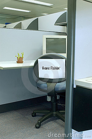 Free Gone Fishing 2 - Office Series Royalty Free Stock Photo - 189845